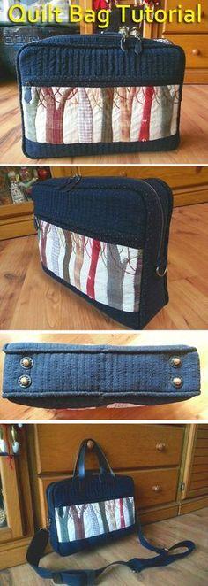 Cómo hacer que las mujeres Bolsa tutorial coser acolchado. Patchwork japonés. DIY Tutorial Imagen. Bolsa - acolchar y acolchado. Clase magistral sobre la toma.