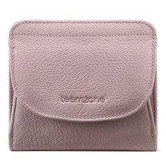 01029a68f096c Geldbörse Damen Klein Leder RFID Schutz mit Münzfach Mini Portemonnaie  Portmonee Brieftasche Frauen Geldbeutel Flache TEEMZONE
