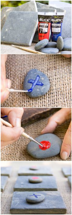 Garden Tic Tac Toe/ Moonfrye DIY/ Nature Crafts/ Repurposed/ Recycled Crafts