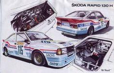 Škoda Rapid 130 R/H létala po Ringu až 260 km/h, teď je jako nová - 2 - Bus Engine, Automotive Upholstery, Mobile Art, Car Drawings, Courses, Old Cars, Sport Cars, Cars And Motorcycles, Vintage Cars