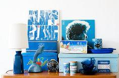 Arranged vintage things part VII: blue