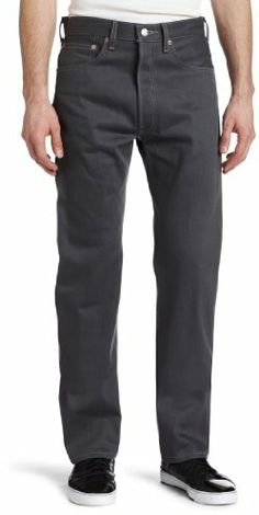 Levi's Men's 501 Colored Rigid Shrink-to-Fit Jean (Clearance), Light Gray Rigid, 40x30 on shopstyle.com