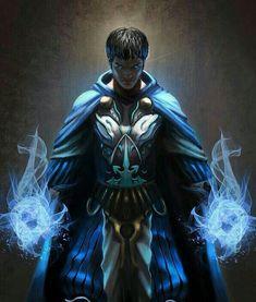 Human Sorcerer - Pathfinder PFRPG DND D&D d20 fantasy