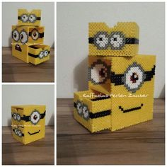 DIY Minion box hama perler beads (tutorial)                                                                                                                                                                                 Mehr