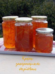 Η πρότασή μας #11: Γλυκά κουταλιού, λικέρ και μαρμελάδες με εσπεριδοειδή - cretangastronomy.gr Marmalade, Preserves, Pickles, Salsa, Cocktails, Jar, Sweets, Recipes, Greek
