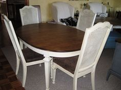 Dining Room Set With Cane Back Chairs - Desire to beautify your dining room? The dining room is among the most common used fu Wicker Dining Room Chairs, Upholstered Dining Bench, Modern Dining Chairs, Kitchen Chairs, Dining Room Table, Dining Set, Dining Rooms, Dining Chair Makeover, Furniture Makeover