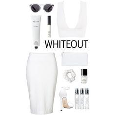 white by madelen-reinholdtsen on Polyvore featuring Donna Karan, Stuart Weitzman, Illesteva, American Apparel, NARS Cosmetics, Byredo, Rodin Olio Lusso and Chanel