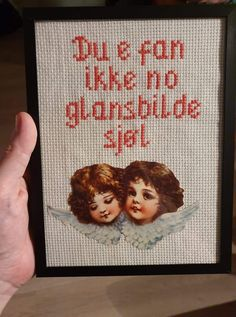 Funny Images, Diy And Crafts, Funny Quotes, Cross Stitch, Lol, Embroidery, Humor, Sayings, Knitting