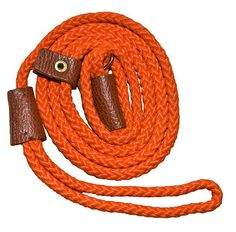 Turner richards Sportsman Slip Leads With Leather Sleeves Stop - Orange Slip leads are the traditional style of dog lead used to train gundogs and puppies are introduced to the lead early on to develop the discipline necessary for their role