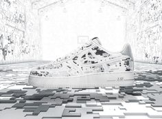 sale retailer 04d7c 3d5d5 Nike Air Force 1 High-Frequency Digital Camouflage - the digital shoe for  the digital