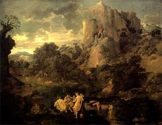 Poussin, Landscape with Hercules and Cacus, Circa 1659-1661, Pushkin Museum - Russia.