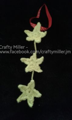More to add to the mix and match range! Remember these are two for £5  This particular piece is 3 small stars sewn into a chain. The colour used is fluorescent yellow which may not show as bright on some monitors but as usual can be personalised in any colour you wish!  A real must have ready for Christmas! Visit http://goo.gl/PYPosa for more information