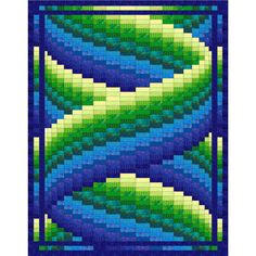 Curlz Bargello Quilt Pattern by QuiltingJays on Etsy