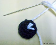 How to make lively eyes for amigurumi or crochet toys