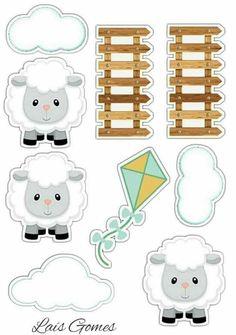 Eid Crafts, Ramadan Crafts, Crafts For Kids, Paper Crafts, Kindergarten Preparation, Lamb Nursery, Baby Shower Photo Booth, Baby Shawer, Cartoon Stickers