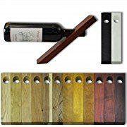 Porta-bottiglia di vino, equilibrato in legna, colorato quercia naturale (16283)