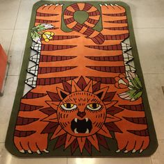 We can make custom mats all shapes and sizes, look how nice this one of a kind piece came out we did for a client in 👌👌👌 Cat Rug, Custom Mats, Angry Cat, Print Logo, Habitats, Printing On Fabric, Bohemian Rug, Shapes, Wool