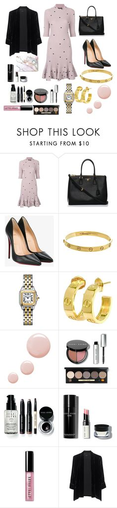 """""""And now working """" by benedetta-ii ❤ liked on Polyvore featuring Giambattista Valli, Prada, Christian Louboutin, Cartier, Topshop, Bobbi Brown Cosmetics and Jadicted"""
