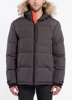 Shop for Noize Men's Bryant Mid Length Insulated Hooded Puffer Jacket. Get free delivery On EVERYTHING* Overstock - Your Online Men's Clothing Shop! Mid Length, Cold Weather, Faux Fur, Hoods, Winter Jackets, Coat, Hooded Parka, Stuff To Buy, Grey