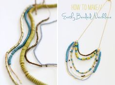 Andrea does the BEST handmade jewelry -- SO pretty!  how-to-make-an-earthy-beaded-necklace
