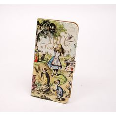 Alice in Wonderland book phone flip case wallet for iPhone and Samsung by Chick Lit Designs           | Shop this product here: spreesy.com/abbeyrow/80 | Shop all of our products at http://spreesy.com/abbeyrow    | Pinterest selling powered by Spreesy.com