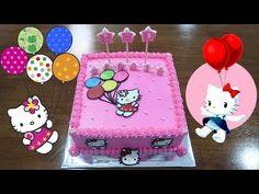 Happy Birthday cake Hello Kitty for baby girl Baby Girl Cakes, Baby Birthday Cakes, Happy Birthday, Cake Baby, Smiths Bakery, Cake Baking Pans, Round Cakes, Cake Decorating