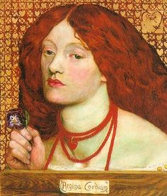 I was just reminded that I want to make myself a copy of this necklace, so I need to study it all over again. {Regina Cordium - Dante Gabriel Rossetti}