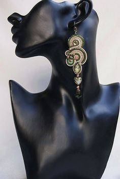 Long Soutache Earrings - Je t`aime by BeadsRainbow, via Flickr