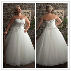 Hot Sale Ball Gown Sweetheart Sweep Train Ruffles Beading Shiny Sequins Women Bridal Gown Organza Plus Size Wedding Dress 2014