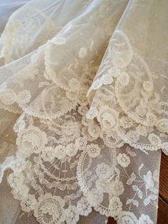 I love the details here! Super delicate and feminine! #weddingdress #lacedress #delicate