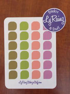 Greens/Pinks Color Palette Tear Drop Stickers (Sheet of 24) Passion Planner, Erin Condren, Filofax....etc by LyRainzStickrzNStuff on Etsy