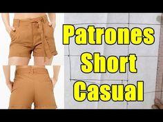 Patrones de Short Casual Y Escalado de Tallas - YouTube Shorts Casual, Sketch Design, Diy Clothes, Bikinis, Swimwear, Sewing, Youtube, Dresses, Women