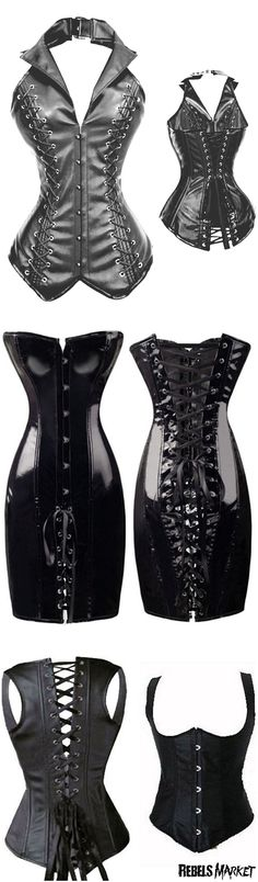 Shop goth corsets at RebelsMarket.