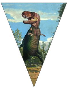 Large T Rex Banner