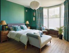 Kitchens Bedrooms and Bathrooms Pastel Bedroom, Bedroom Green, Bedroom Colors, Dream Bedroom, Colourful Bedroom, Bedroom Flooring, Vinyl Flooring, Bedroom Inspo, Bedroom Decor