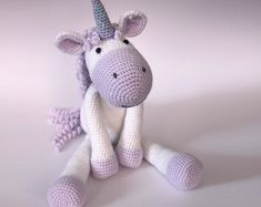 Calista the Unicorn Crochet Pattern PDF | Beautiful Cases For Girls