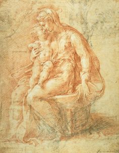 The Madonna And Child  by Parmigianino