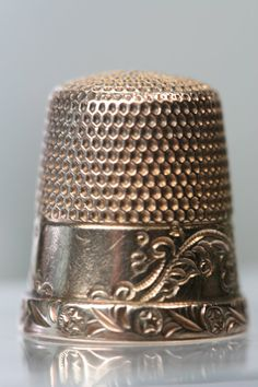 10k Gold Vintage Thimble Ketchum McDougall by ClassicStyle on Etsy, $110.00