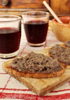 Crostini con i fegatini di pollo Mousse, Antipasto, Banana Bread, Salsa, French Toast, Tasty, Cooking, Breakfast, Desserts