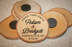 Save the Date Magnets  Custom Wooden Rustic by pixelsandwood, $10.00