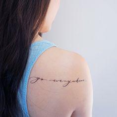 traveller tattoo fonts, go tattoo, temp tattoo, tattoo Go Tattoo, Tattoo 2017, Fake Tattoo, Temp Tattoo, Small Wrist Tattoos, Tattoo Fonts, Temporary Tattoo, Tattoo Quotes, Happy Tattoo