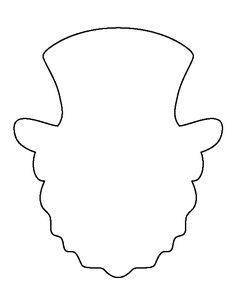 leprechaun hat paper craft black white template diy you