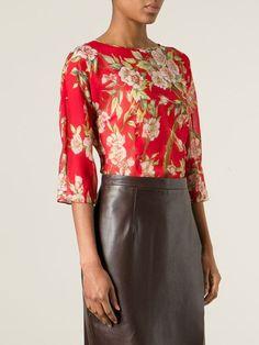 Dolce & Gabbana Floral Print Blouse - Verso - Farfetch.com