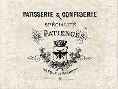 Digital Download Antique Paris French Ad - Vintage Paris French Typography Advertisement - Transfer Graphic - Vintage Label INSTANT DOWNLOAD