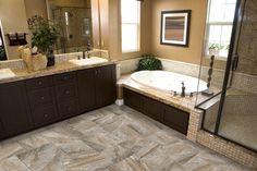 Emser Tile Eurasia x Bullnose Tile Trim in Noce Asian Bathroom, Bathroom Ideas, Bath Ideas, Bathroom Designs, Small Bathroom, Shower Ideas, Bathroom Vinyl, Bathroom Updates, Ikea Bathroom
