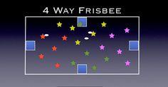 Gym Games - 4 Way Frisbee