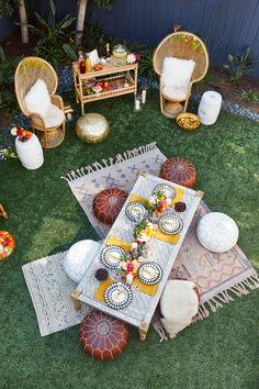 Happy Monday! I am SO excited to finally share photos from the Moroccan themed engagement party I threw for my little sister. I had a blast dreaming up this day and love the way it all came together. It was bohemian, casual, elegant and relaxed set in my backyard in Venice, California.