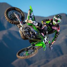 Monster Energy Anaheim Supercross VIP Credential Package for 4 Kawasaki Dirt Bikes, Motos Kawasaki, Ktm Dirt Bikes, Cool Dirt Bikes, Dirt Bike Gear, Motorcycle Dirt Bike, Pit Bike, Dirt Biking, Motorcycle Quotes