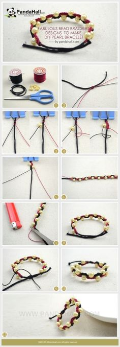 Tutorial for a bracelet that's a combination of friendship and Shamballa bracelets!