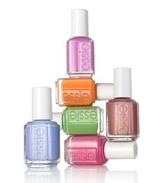Essie's 2012 Summer Collection. I love the softness of these shades, especially Bikini So Teeny - the beautiful blue polish. (Photo Credit - Sidewalk Hustle)